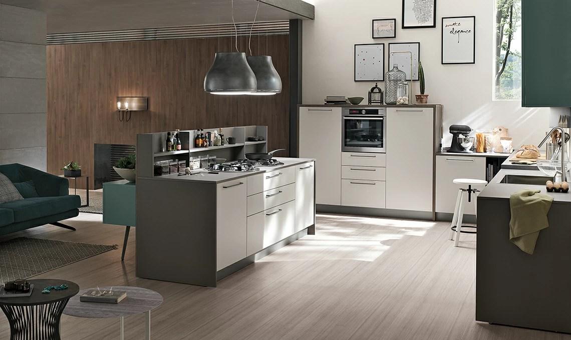 La cucina con isola effetto vedononvedo  CASAfacile