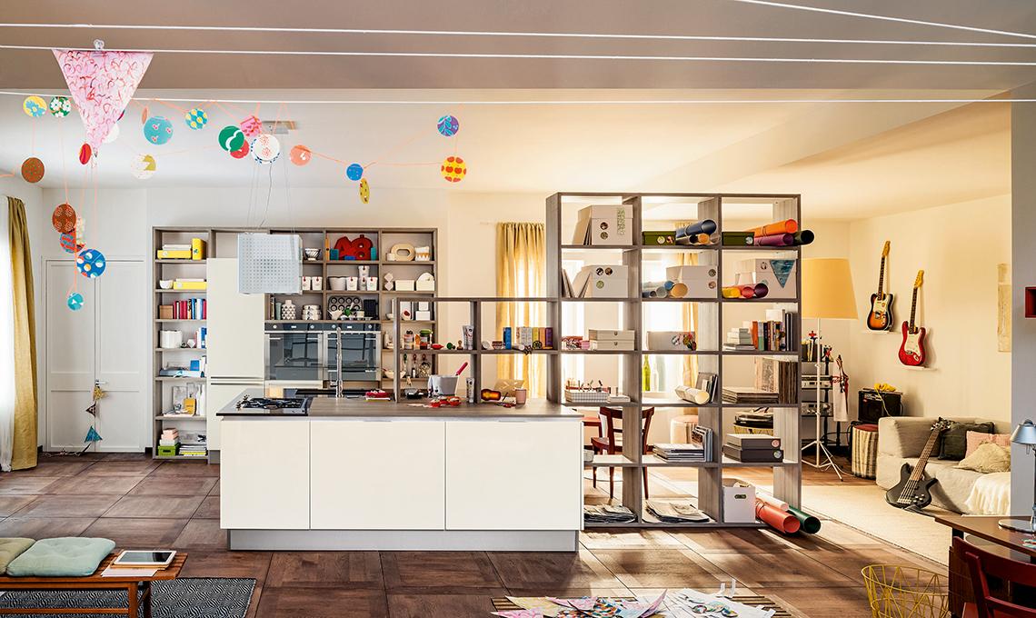 La libreria multifunzione per la cucina a vista  CASAfacile