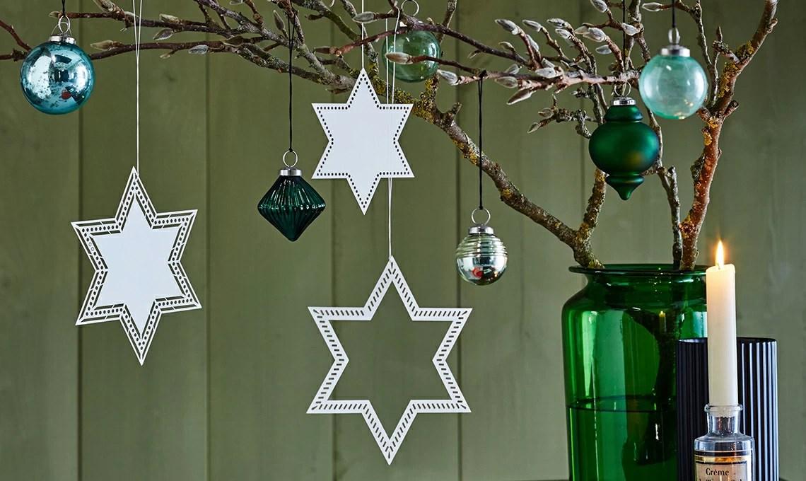 Stelle di carta per decorazioni di Natale faidate