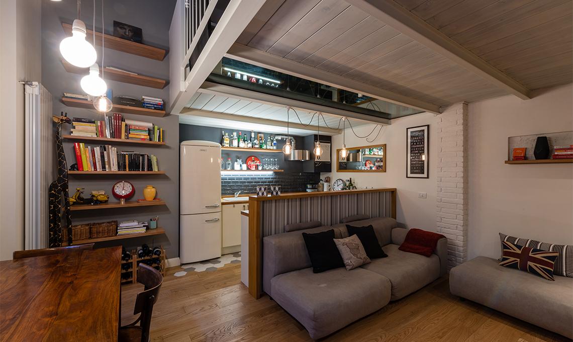 Restyling di un appartamento con soppalco  CasaFacile