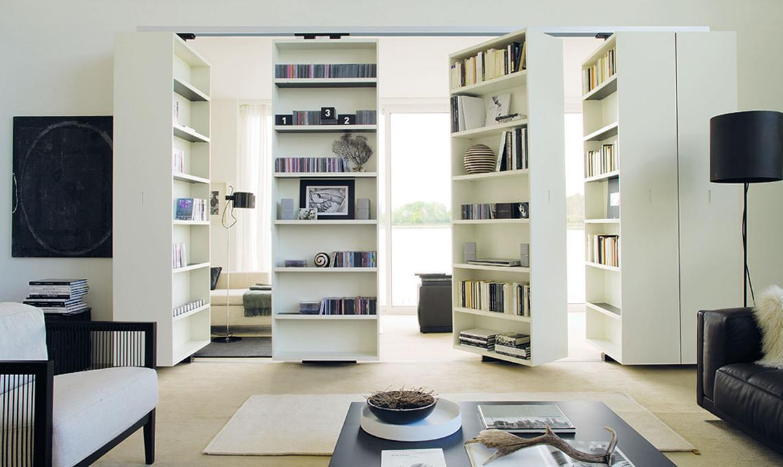Dividere la stanza con la libreria girevole  CASAfacile