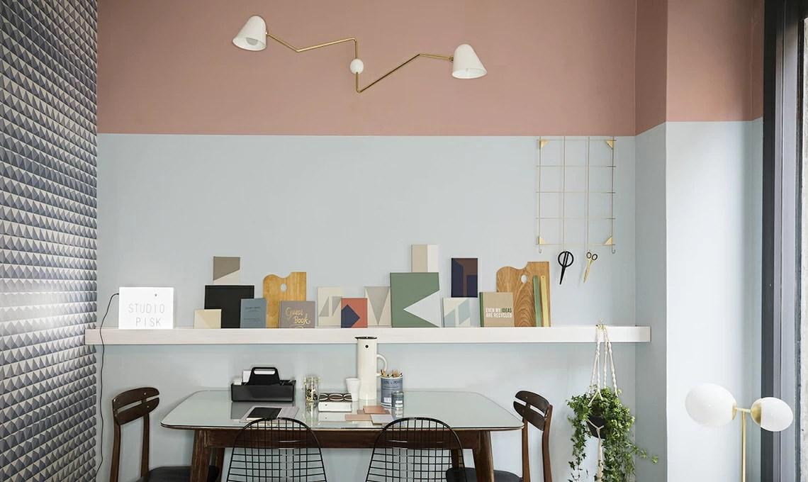 Una parete due colori idee e ispirazioni per arredare lo studio  CASAfacile