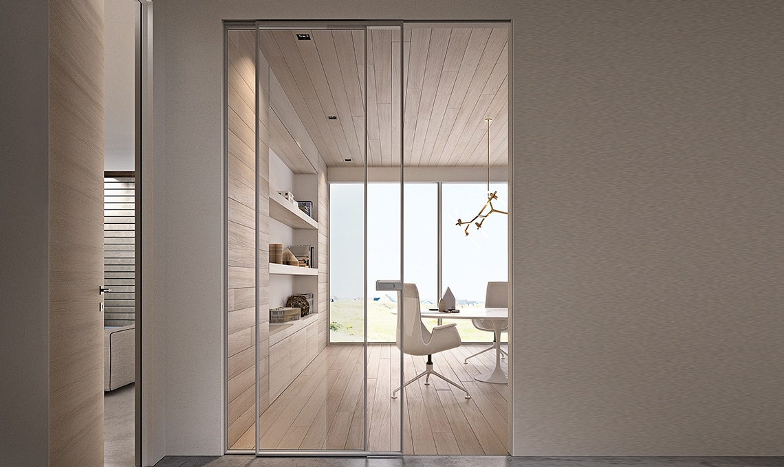 Porte scorrevoli per dividere e creare una stanza nella