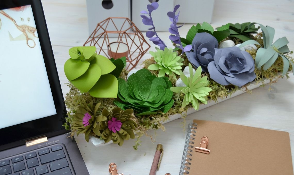 Una composizione di piante grasse succulente di carta  CASAfacile