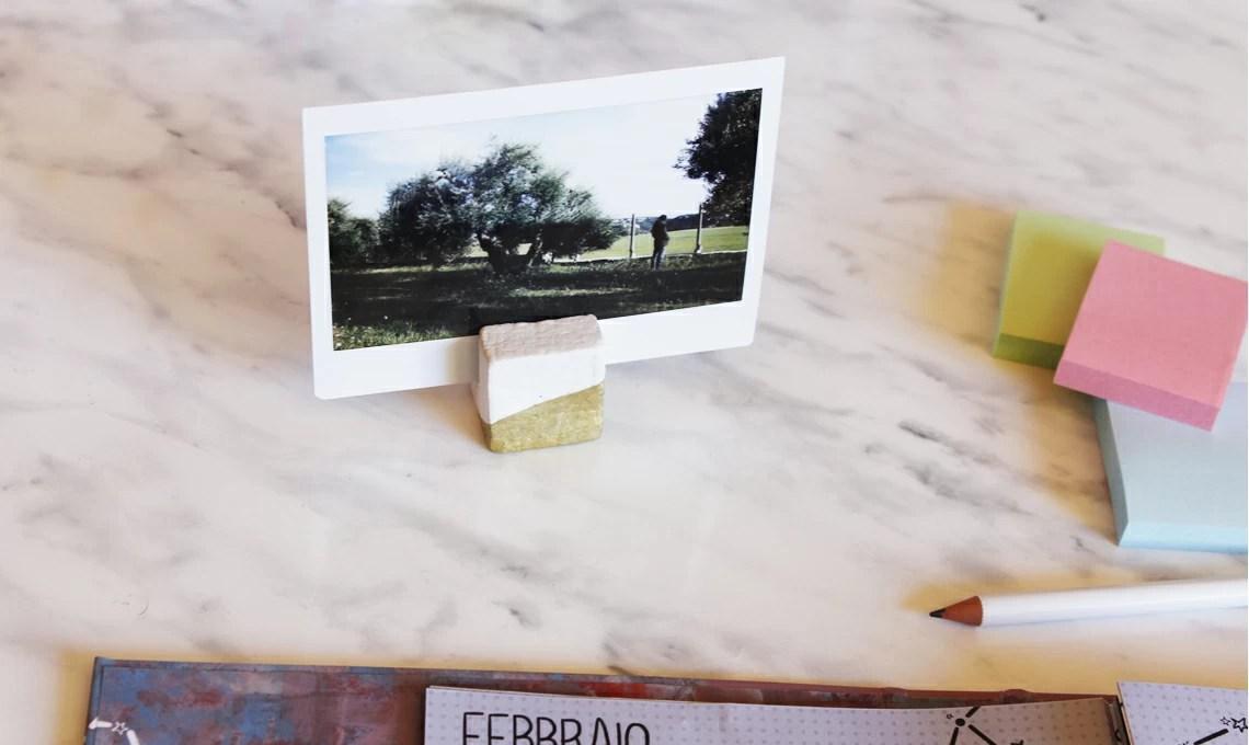 Tutorial DIY porta foto dorati  CASAfacile