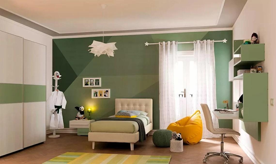 Colori cameretta maschio e femmina; 12 Camerette Nelle Sfumature Del Verde Casafacile