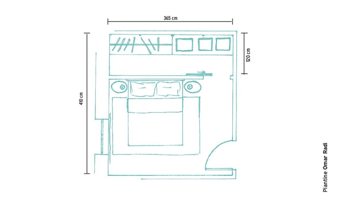 Cabina armadio sfrutta lo spazio dietro la testata del letto  CASAfacile