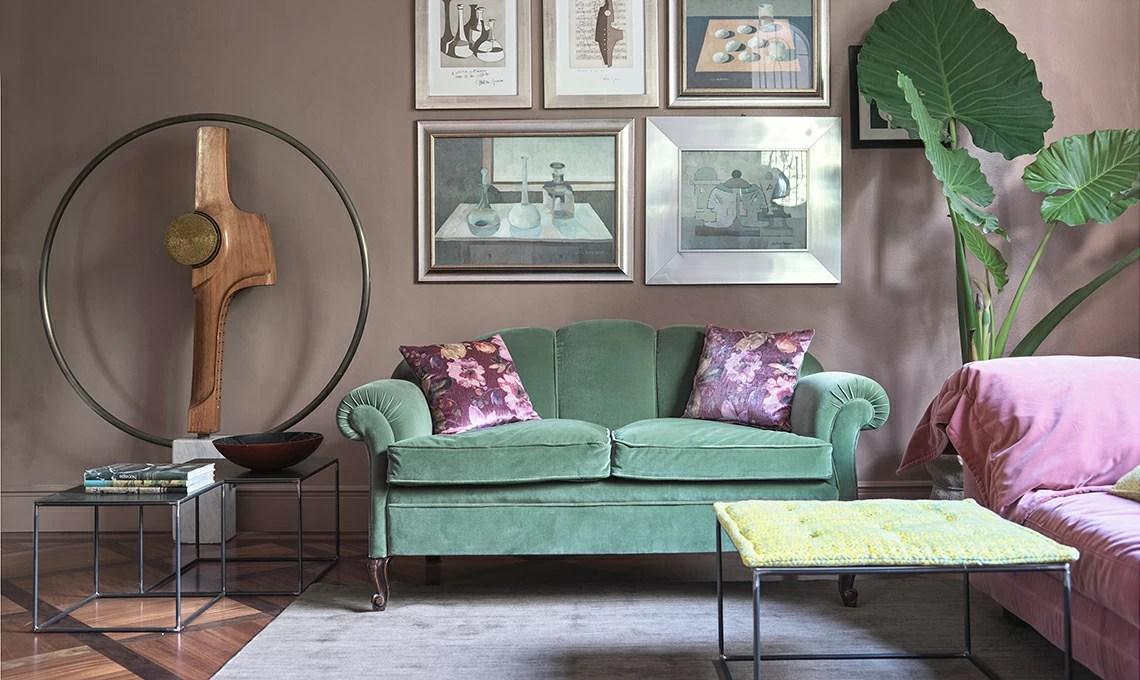 Pareti colorate e arredi vintage in una casa dal gusto eclettico  CASAfacile