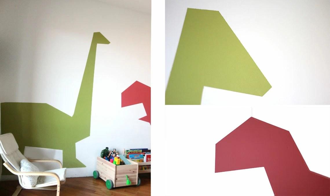 Disegni da parete per camerette : Decorare Le Pareti Della Cameretta Con Le Sagome Di Dinosauro Casafacile