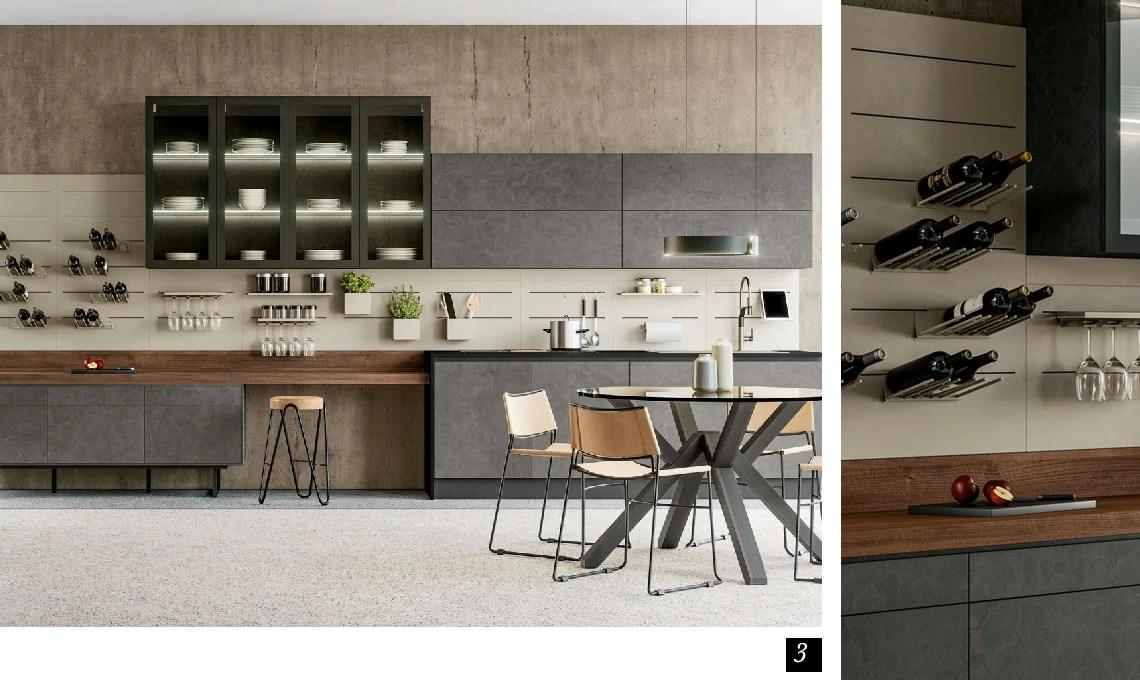 Mensola da parete legno e metallo design moderno con asta e ganci bagno cucina. Arreda La Cucina Con Mensole E Pensili A Giorno Casafacile