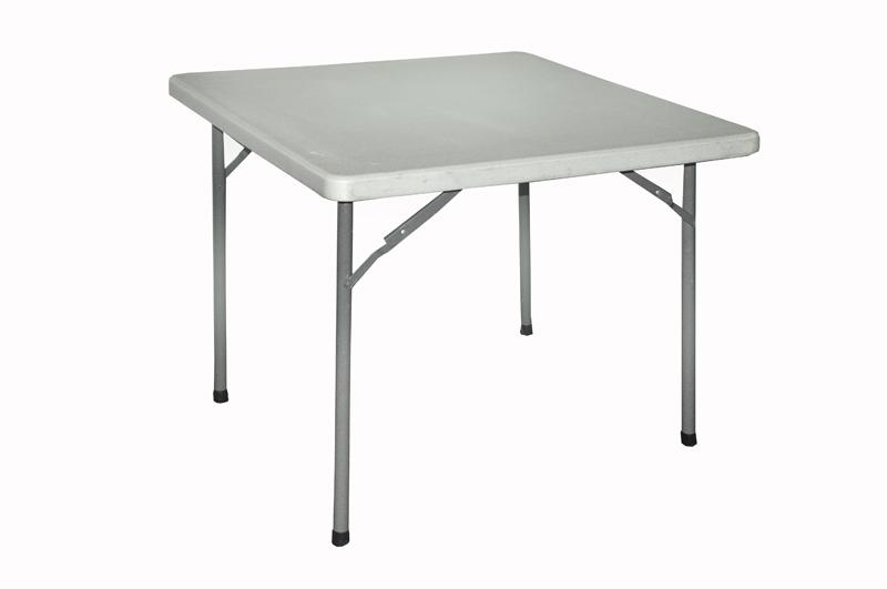 Alquiler de mesa cuadrada de plstico plegable