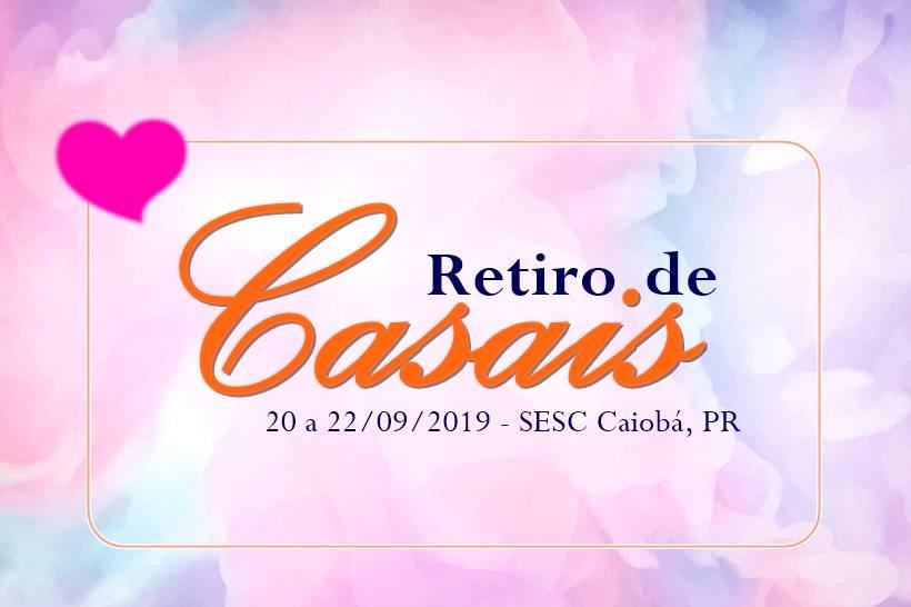Cartaz retiro de casais 2019