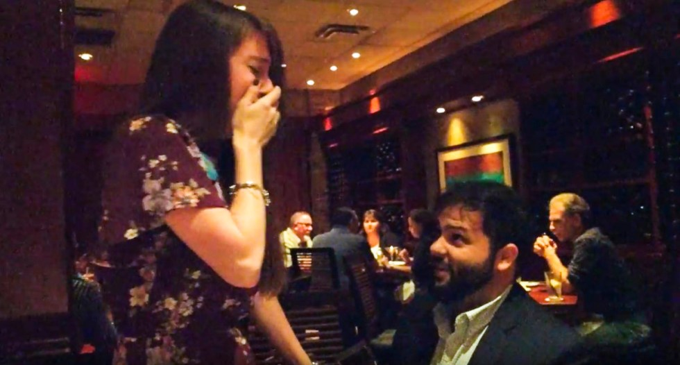We got engaged