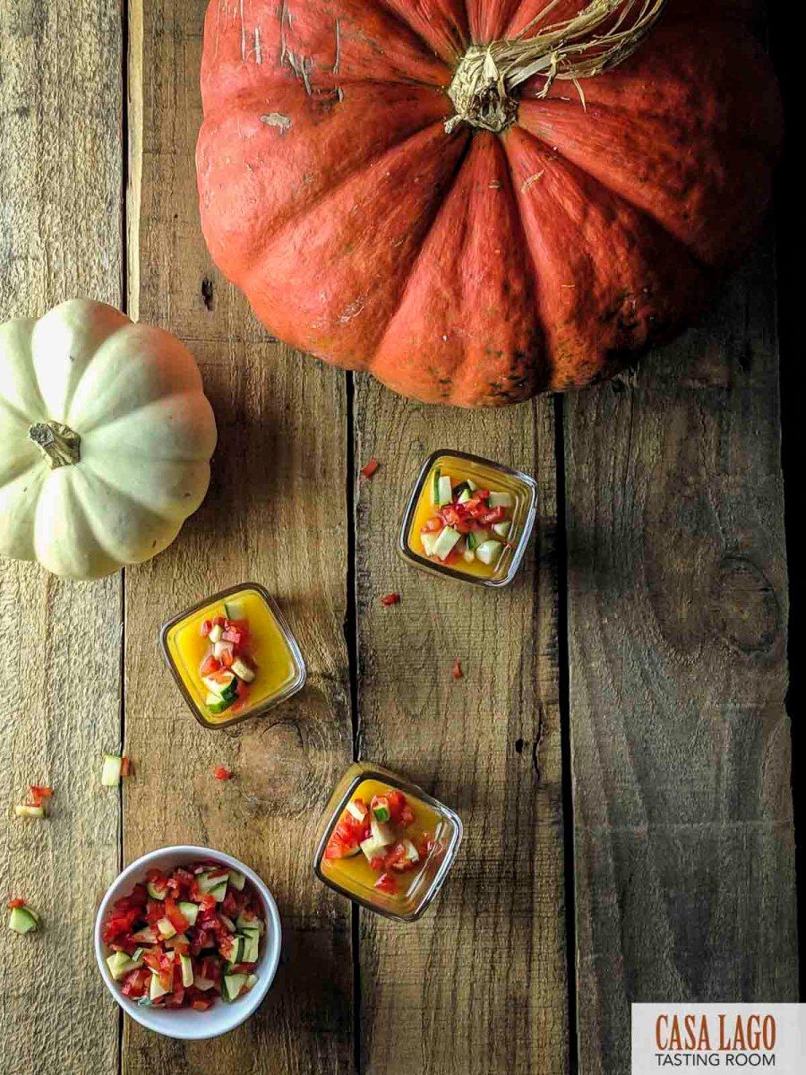 Pumpkin Gazpacho Shots