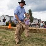 Potato sack race, Purple Foot Festival at Casa Larga Vineyards