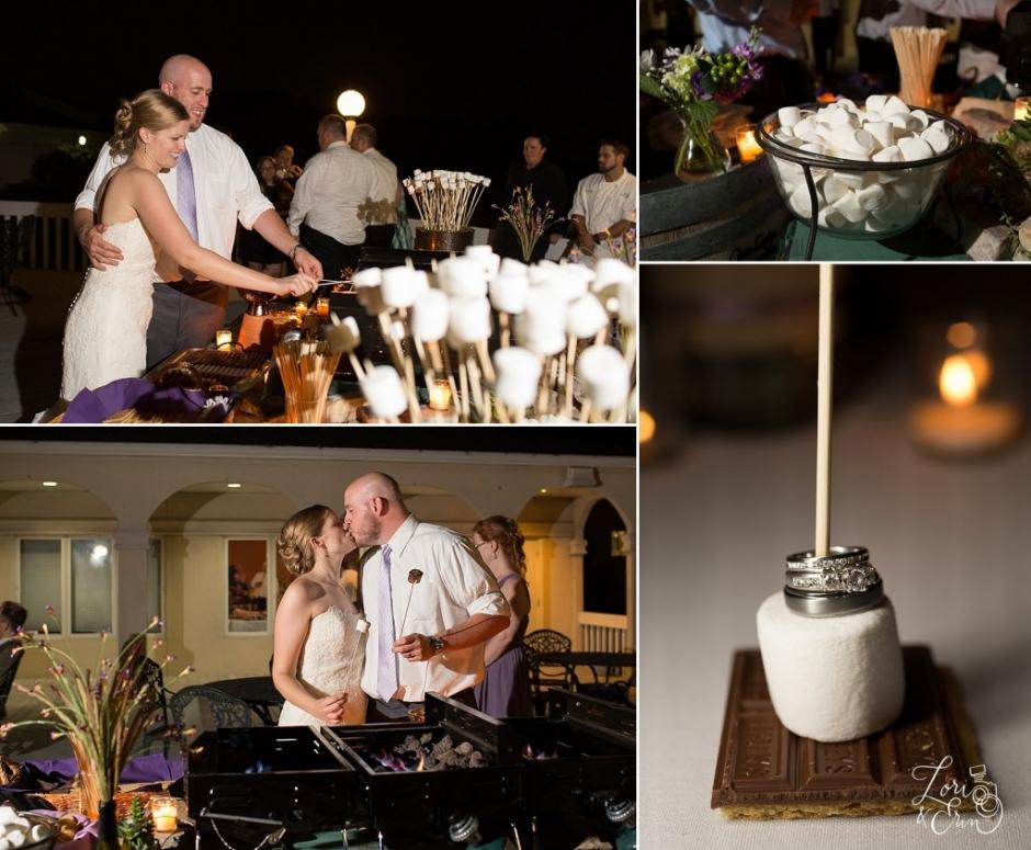 S'mores station, Wedding Receptions and Ceremonies at Casa Larga Vineyards