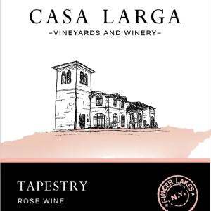 Tapestry Rosé Wine at Casa Larga Vineyards