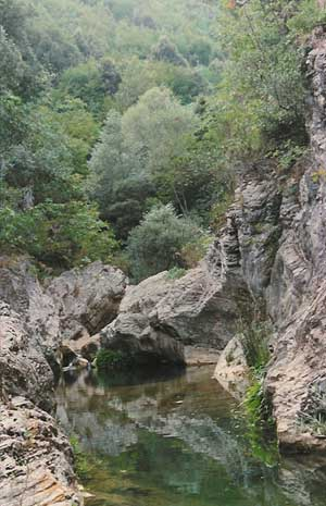 Forra di Prodo Fosso Campione canyoning speleologia percorso speleologico