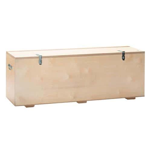 coffre de rangement banc en bois