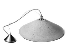 Flache Beton Hängelampe mit Kegelschirm Ø 45 cm   Casa Lumi