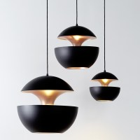 Pendelleuchte im Sixties Design HERE COMES THE SUN schwarz   Casa Lumi