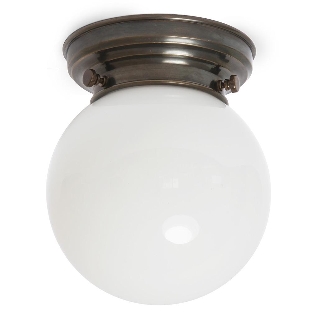 Nostalgische KugelglasDeckenleuchte nicht nur fr Badezimmer  18 cm  Casa Lumi