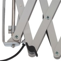 Scissor lamp for wall mounting in black and silver - Casa Lumi