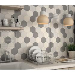 carrelage mural faience scale hexagon 10 couleurs hexagone 12 4x10 7cm