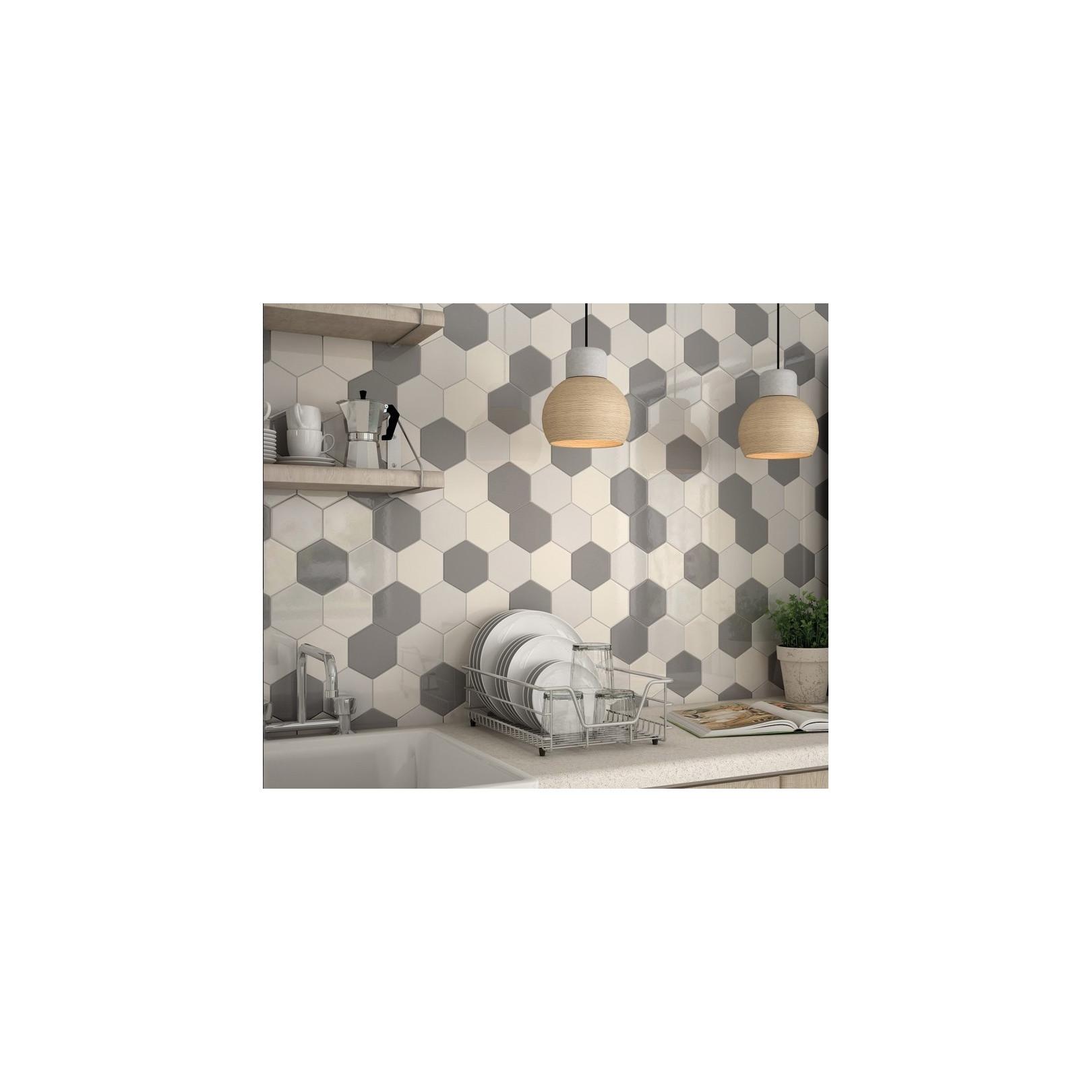 carrelage mural faience scale hexagon 10 couleurs hexagone 12 4x10 7cm casalux home design