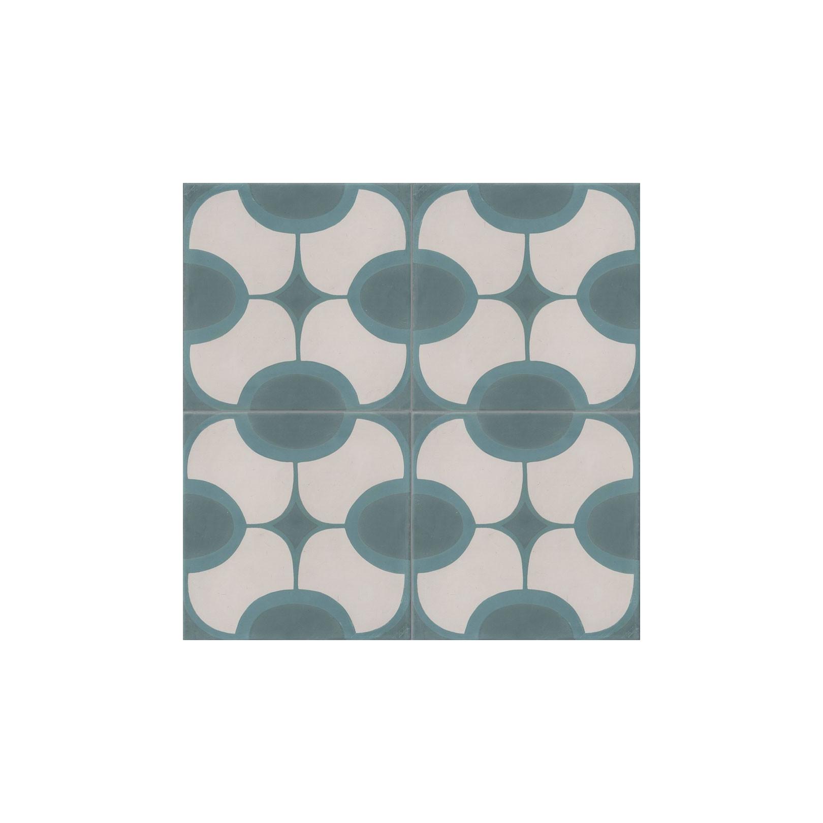 carreau de ciment colore motif 4 carreaux vert bleu et blanc john 07 40 39