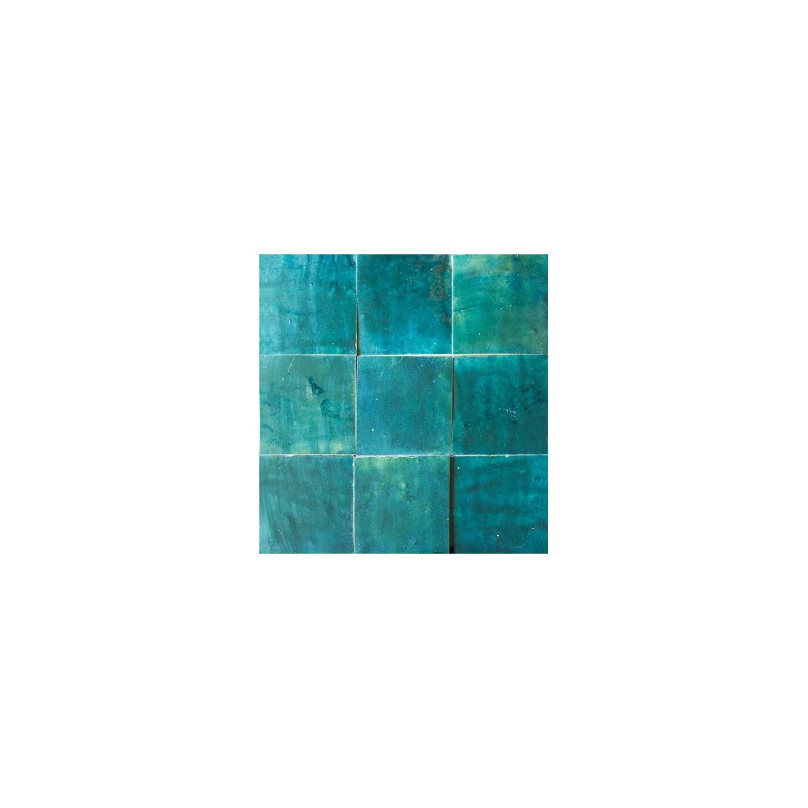 carrelage mural zellige manuel bleu petrol 59