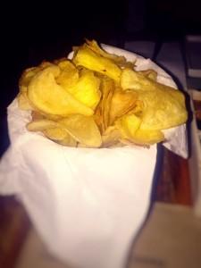 Porção de chips.