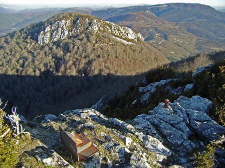 Vista desde el buzón de la cima de Peña Elke
