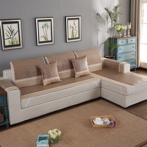 Funda sof con chaise longue estilo verano con cubierta de seda - Fundas para sofas con chaise longue ...