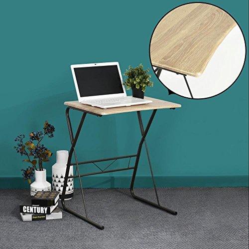 Mesa plegable para ordenador port til acabado en madera for Mesa plegable para ordenador