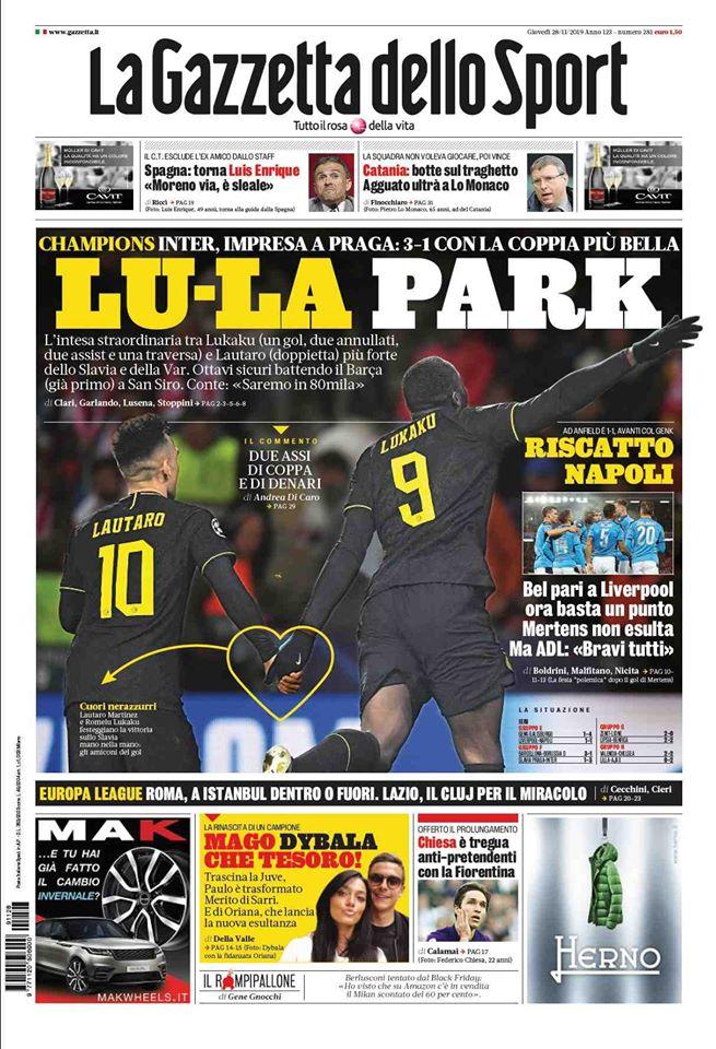 prima pagina la gazzetta dello sport