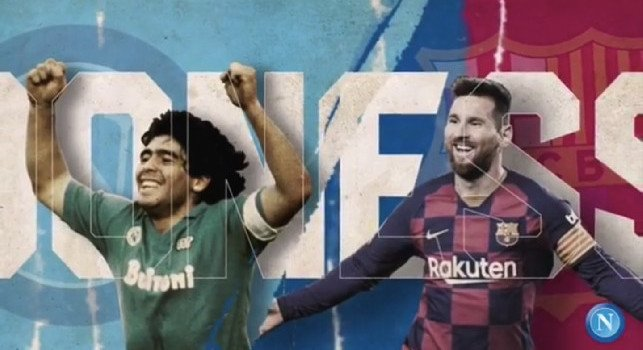 SSC Napoli Instagram Maradona Messi