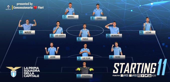 Napoli Lazio formazione ufficiale
