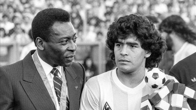 Pelè e Maradona
