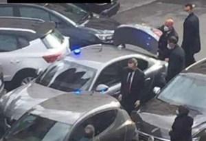 Draghi incidente d'auto Roma