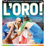 """PRIMA PAGINA- Corriere dello Sport: """"L'oro!"""""""