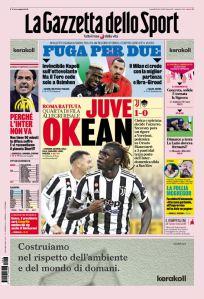 Prima Pagina Gazzetta dello Sport 18 Ottobre