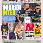 """PRIMA PAGINA- Gazzetta dello Sport: """"Sorridi Inter!"""""""