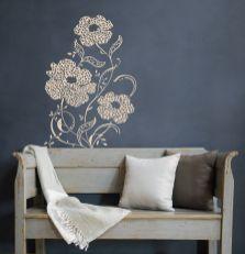 Blüten in dezentem Farbton – Make-up für die Wand
