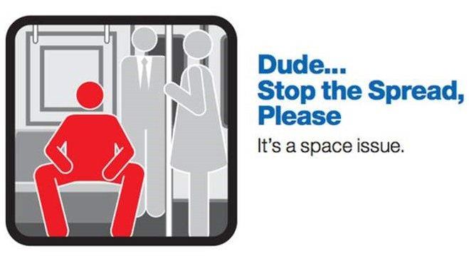 manspreading subway