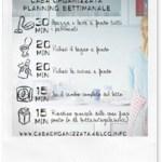 Planning settimanale per una casa organizzata