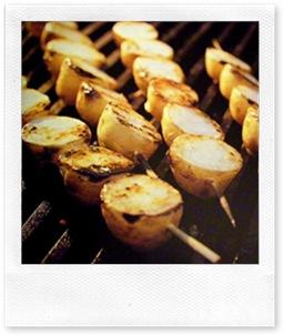 Barbecue spiedini di patate novelle alla griglia  Casa Organizzata