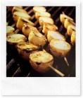 Barbecue: spiedini di patate novelle alla griglia