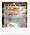 Pesi e misure in cucina, senza bilancia!