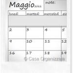 Calendario planning mensile da stampare
